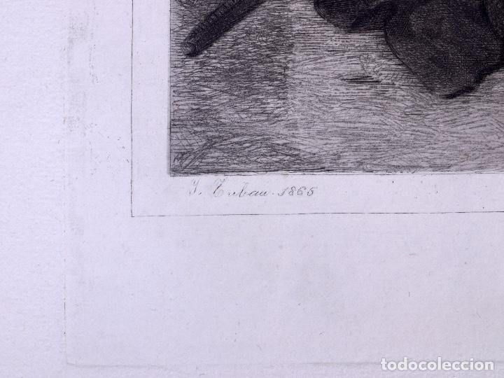 Arte: MENDIGO. AGUAFUERTE ORIGINAL Nº 8 DE TUBAU Y ALBERT. 1876 - Foto 3 - 160229414