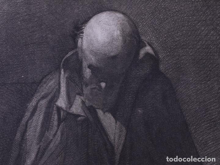 Arte: MENDIGO. AGUAFUERTE ORIGINAL Nº 8 DE TUBAU Y ALBERT. 1876 - Foto 4 - 160229414