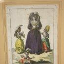 Arte: GRABADO CALCOGRAFICO JUAN DE LA CRUZ. COLOREADO. TRAJES DE ESPAÑA, TIPOS POPULARES. AÑO 1777. Lote 160252602