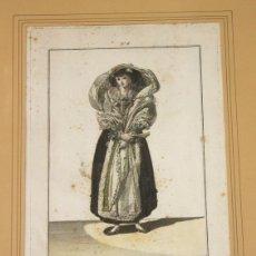 Arte: GRABADO CALCOGRAFICO JUAN DE LA CRUZ. COLOREADO. TRAJES DE ESPAÑA. AÑO 1788. Lote 160254954