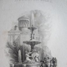 Arte: 1842-GRABADO ORIGINAL. FUENTE DE MADRID. Lote 160334042