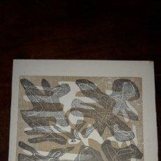 Arte: LUIS SEOANE GRABADO XILOGRAFIA FIRMADO CIELO MELLADO AL OTRO DIA MOJADO 1965 SERIE REFRANES CRIOLLO. Lote 160368750
