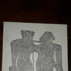 Arte: LUIS SEOANE GRABADO XILOGRAFIA FIRMADO EL DIABLO BUEN AMIGO SABIENDO 1965 REFRANES CRIOLLOS PAYPAL. Lote 160369242