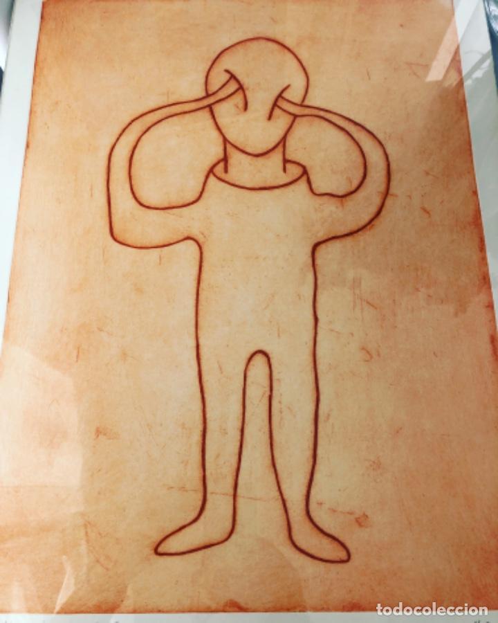 PABLO ALONSO HERRAIZ . GRABADO AL AGUAFUERTE . 50 X 40 CM (Arte - Grabados - Contemporáneos siglo XX)