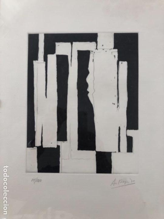 ANDRES REPISO . GRABADO AL AGUAFUERTE . 40 X 30 CM (Arte - Grabados - Contemporáneos siglo XX)