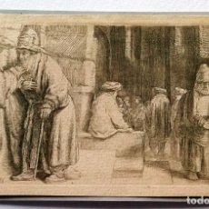 Arte: REMBRANDT GRABADO ORIGINAL 100% - JEWS IN A SYNAGOGUE. Lote 103321047