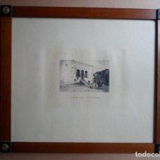 Arte: FORTUNY POR MIGUEL SEGUÍ (BARCELONA 1858-1923) GRABADO CENTENARIO MUERTE 1975 TANGER CASA GOBERNADOR. Lote 160508666