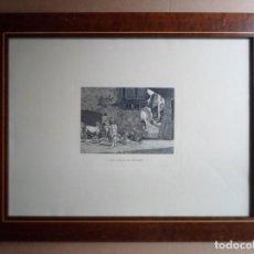 Arte: FORTUNY POR MIGUEL SEGUÍ (BARCELONA 1858-1923) GRABADO CENTENARIO MUERTE 1975: CALLE DE TANGER. Lote 160510374