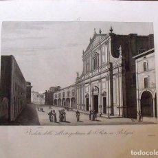 Arte: VEDUTA DELLA METROPOLITANA DI S.PIETRO IN BOLOGNA. ZUCCAGNI ORLANDINI EDIT. & F. CORSI INC. 1844.. Lote 160520226