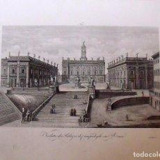 Arte: VEDUTA DEI PALAZZI DI CAMPIDOGLIO IN ROMA. ZUCCAGNI ORLANDINI EDIT. & A. DE VEGNI INC. 1844. Lote 160525370