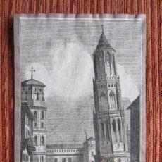 Arte: 1792- GRABADO ORIGINAL. TORRE INCLINADA DE ZARAGOZA. Lote 160525774