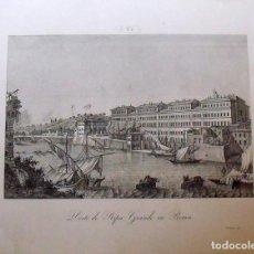 Arte: GRABADO VEDUTA PORTO DI RIPA GRANDE IN ROMA. ZUCCAGNI ORLANDINI EDIT. & V. ANGELI INC. 1844. Lote 160526382