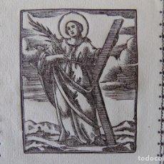 Arte: LIBRERIA GHOTICA. GRABADO DEL SIGLO XVIII DE SANTA EULALIA. 21 X 15 CM. BUEN PAPEL.. Lote 160613658