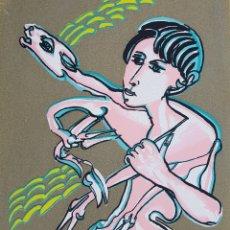Arte: REMO BRINDISI (ITALIA 1918-1996), PRECIOSA SERIGRAFÍA ? DE UNA GRANDÍSIMA CALIDAD, FIRMADA.. Lote 160734000