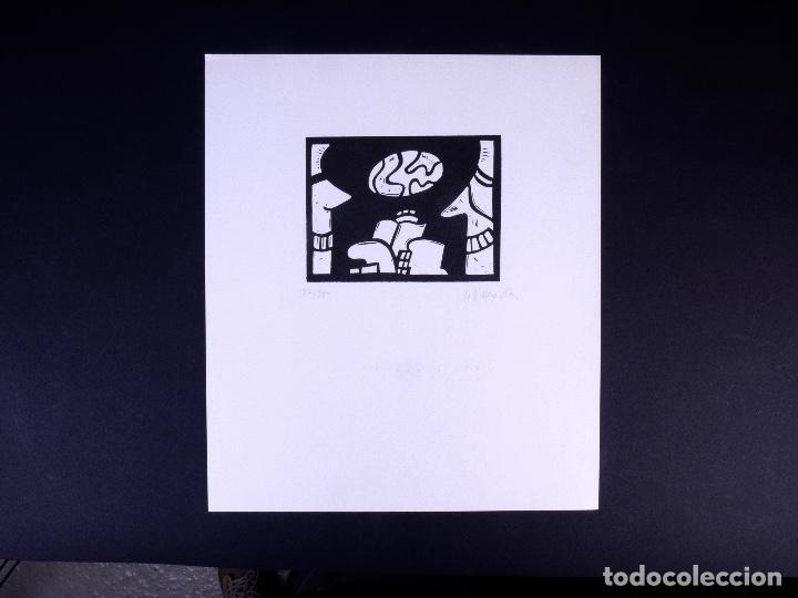 LINOLEO DE JORGE OLASO.MUSEO GUGGENHEIM BILBAO (Arte - Grabados - Contemporáneos siglo XX)