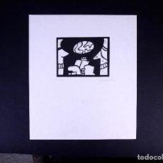 Arte: LINOLEO DE JORGE OLASO.MUSEO GUGGENHEIM BILBAO . Lote 160801786