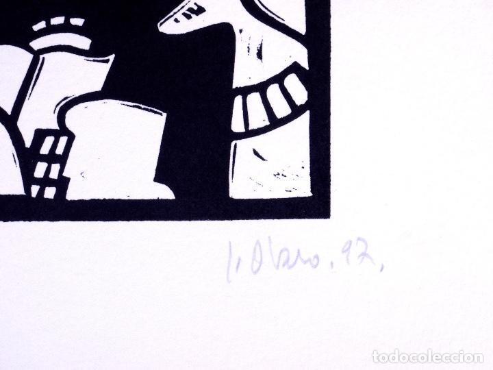 Arte: LINOLEO DE JORGE OLASO.MUSEO GUGGENHEIM BILBAO - Foto 3 - 160801786