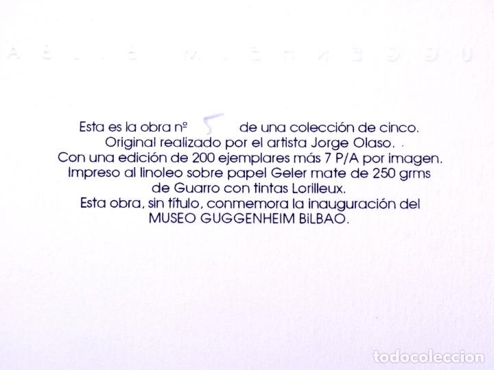 Arte: LINOLEO DE JORGE OLASO.MUSEO GUGGENHEIM BILBAO - Foto 4 - 160801786