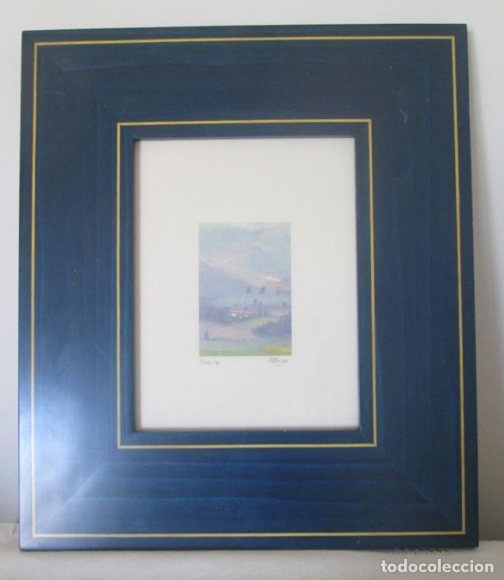 Arte: Grabado Saturno Cerra. Edición limitada numerada y firmada. Marco de madera de sicomoro, boj y ukola - Foto 2 - 160864978