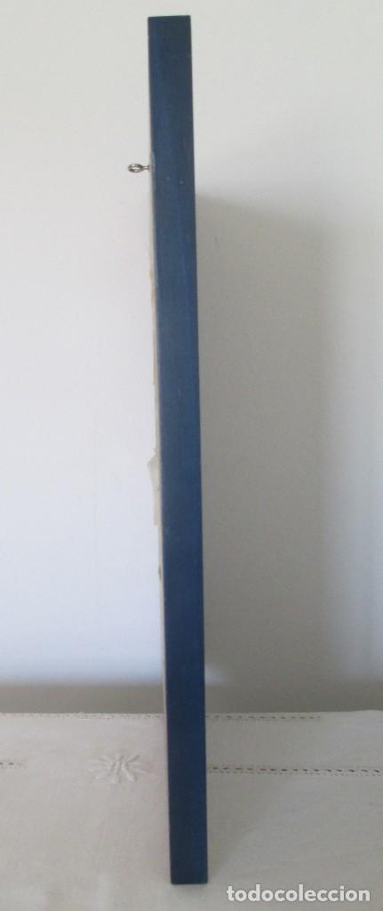 Arte: Grabado Saturno Cerra. Edición limitada numerada y firmada. Marco de madera de sicomoro, boj y ukola - Foto 5 - 160864978
