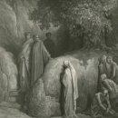 Arte: GUSTAVE DORÉ, XILOGRAFÍA INFOLIO 1870. DIVINA COMEDIA, DANTE. PURGATORIO, FORESE DONATI LEPROSO. Lote 160886638