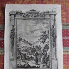 Arte: 1731-MOISÉS.BIBLIA DE JOHANN JACOB.GRABADO ORIGINAL DE G. D. HEUMANN.IMPRESO EN AUGSBURGO.GRANDE. Lote 160938186