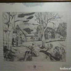 Arte: ALTABIZKARKO KANTUA GRABADO AGUAFUERTE A. ESLAVA CENTENARIO BATALLA RONCESVALLES EUSKERA VASCO. Lote 160967854