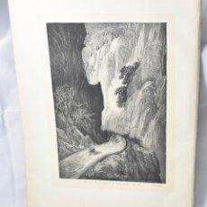 Arte: LA ESPAÑA DE DORÉ:DESFILADERO DE DESPEÑAPERROS,1881,1ª EDIC., 34X25,5, GRABADO A LA MADERA. Lote 161083338