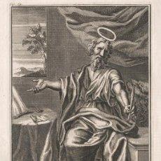 Arte: GRABADO PLANCHA DE COBRE DE 1760, SAN MARCOS EVANGELISTA, LEÓN. WILLIAM BURKITT, INFOLIO, XVIII. Lote 161175914