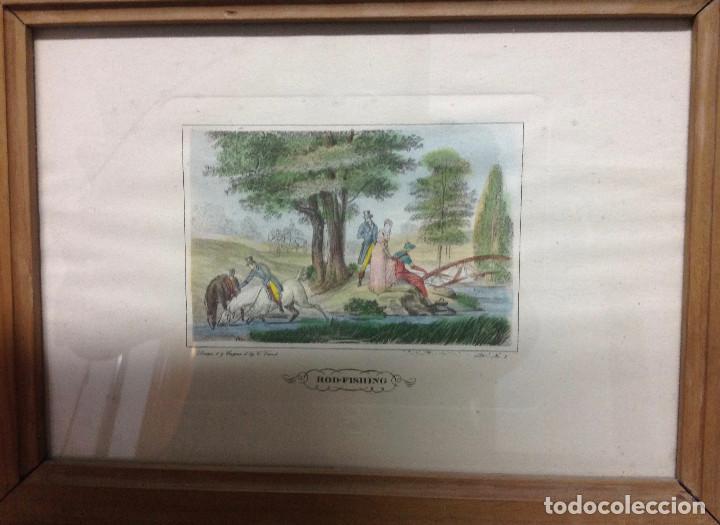 Arte: Grabados ingleses, a color. A elegir: motivo caza y equitación. Diseño y grabado por C. Vernet. 1882 - Foto 3 - 161184482