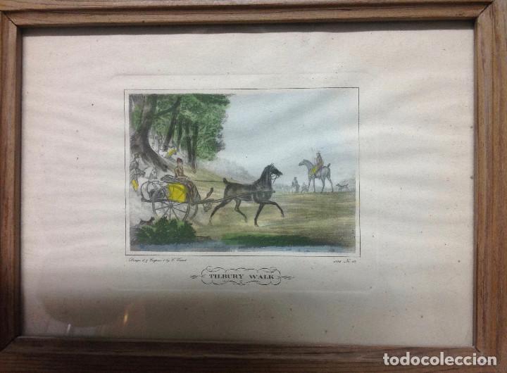 Arte: Grabados ingleses, a color. A elegir: motivo caza y equitación. Diseño y grabado por C. Vernet. 1882 - Foto 4 - 161184482