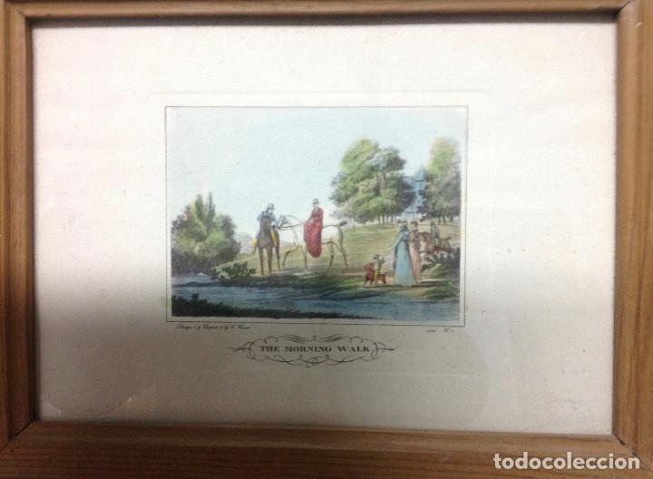 Arte: Grabados ingleses, a color. A elegir: motivo caza y equitación. Diseño y grabado por C. Vernet. 1882 - Foto 5 - 161184482