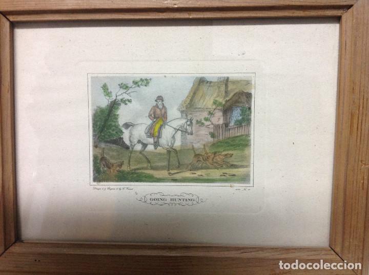 Arte: Grabados ingleses, a color. A elegir: motivo caza y equitación. Diseño y grabado por C. Vernet. 1882 - Foto 6 - 161184482