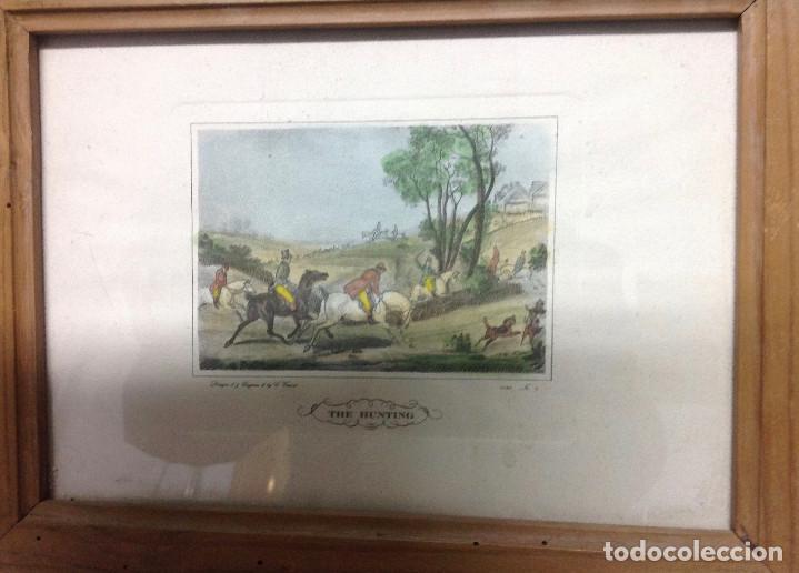 Arte: Grabados ingleses, a color. A elegir: motivo caza y equitación. Diseño y grabado por C. Vernet. 1882 - Foto 7 - 161184482