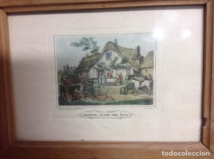 Arte: Grabados ingleses, a color. A elegir: motivo caza y equitación. Diseño y grabado por C. Vernet. 1882 - Foto 8 - 161184482