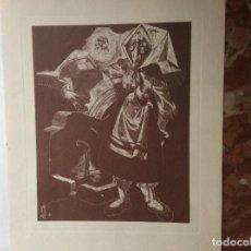Arte: SEIS GRABADOS DEL SIGLO XX DE JUAN ANTONIO ALDA SOBRINO DE GOYA.. Lote 161256942