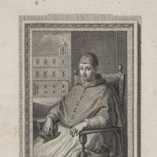 Arte: RETRATO DEL CARDENAL GIL DE ALBORNOZ, GRABADO POR FRANCISCO MUNTANER (1743-1805) EN 1791.. Lote 102372612