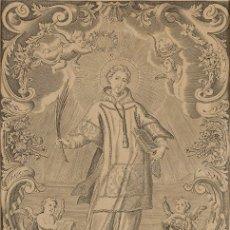 Arte: GRABADO DE SAN ANTOLIN, PATRÓN DE LA INSIGNE REAL IGLESIA COLEGIATA DE MEDINA DEL CAMPO. AÑO 1744.. Lote 87576352
