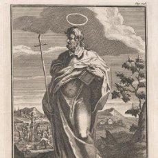 Arte: GRABADO PLANCHA DE COBRE DE 1760, SAN FELIPE APÓSTOL. WILLIAM BURKITT, INFOLIO, SIGLO XVIII. Lote 161620634