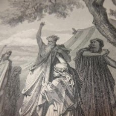 Arte: GRABADO ANTIGUO RELIGIOSO. CHAM MALDECIDO POR NOÉ. GUSTAVE DORÉ. A. BERTRAND. SC. S-XIX.. Lote 161643042