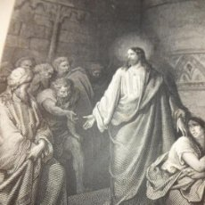 Arte: GRABADO ANTIGUO RELIGIOSO. JESÚS Y LA MUJER ADÚLTERA. GUSTAVE DORÉ. PANNEMAKER. S-XIX.. Lote 161643314