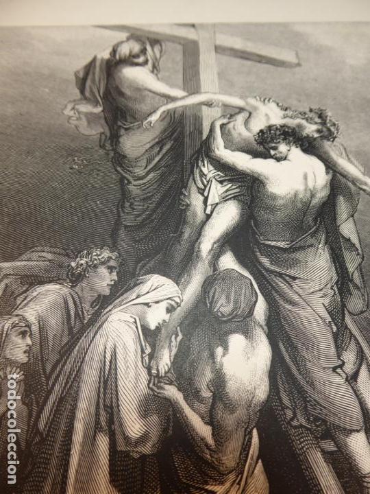 GRABADO ANTIGUO RELIGIOSO. EL DESCENDIMIENTO DE LA CRUZ. GUSTAVE DORÉ. S-XIX. (Arte - Grabados - Modernos siglo XIX)