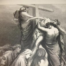 Arte: GRABADO ANTIGUO RELIGIOSO. EL DESCENDIMIENTO DE LA CRUZ. GUSTAVE DORÉ. S-XIX.. Lote 161643506