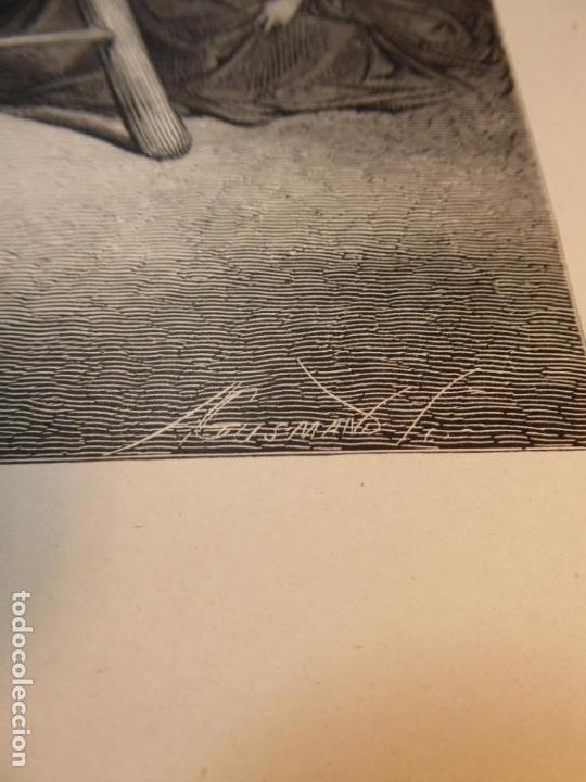 Arte: Grabado antiguo religioso. El descendimiento de la cruz. Gustave Doré. S-XIX. - Foto 5 - 161643506