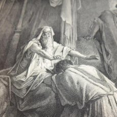 Arte: GRABADO ANTIGUO RELIGIOSO. ISAAC BENDICE A JACOB. GUSTAVE DORÉ. A. GUSMAND. S-XIX.. Lote 161643746