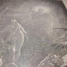 Arte: GRABADO ANTIGUO RELIGIOSO. FORMACIÓN DE EVA. GUSTAVE DORÉ. S-XIX.. Lote 161644402