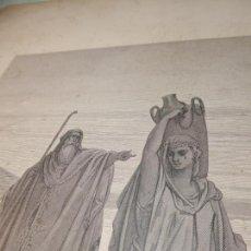 Arte: GRABADO ANTIGUO RELIGIOSO. ABRAHAN DESPIDE A AGAR. GUSTAVE DORÉ. J. QUARTLEY. S-XIX.. Lote 161645006