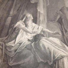 Arte: GRABADO ANTIGUO RELIGIOSO. ISAAC BENDICE A JACOB. GUSTAVE DORÉ. A. GUSMAND. S-XIX.. Lote 161645610