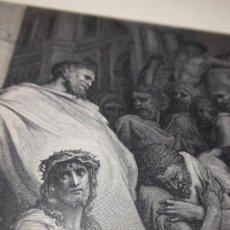 Arte: GRABADO ANTIGUO RELIGIOSO. JESÚS INDULTADO. GUSTAVE DORÉ. PANNEMAKER DOMS. S-XIX.. Lote 161647346