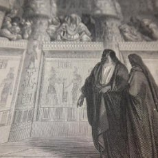 Arte: GRABADO ANTIGUO RELIGIOSO. MOISÉS DELANTE DEL FARAON. GUSTAVE DORÉ. PANNEMAKER, DOMS. S-XIX.. Lote 161647514